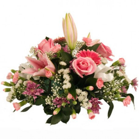 Funeral Pink Posy Arrangement