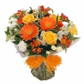 Orange Handtied Bouquet